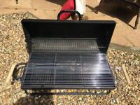Large oil drum charcoal bbq used once