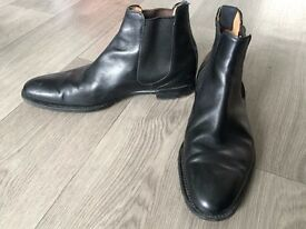 Genuine Cheaney Threadneedle Chelsea Boot in Black Calf Leather
