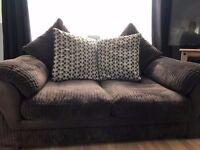 Harvey's Chocolate Brown sofas'  2 of them   One transfers to double bed   Scatter Back Cushions