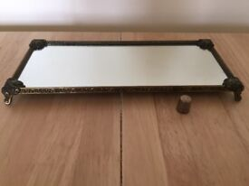 Art Nouveau small mirrored display tray