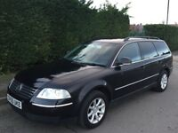 2005 55 vw passat 1.9 tdi highline estate 07487 404723 black £1625