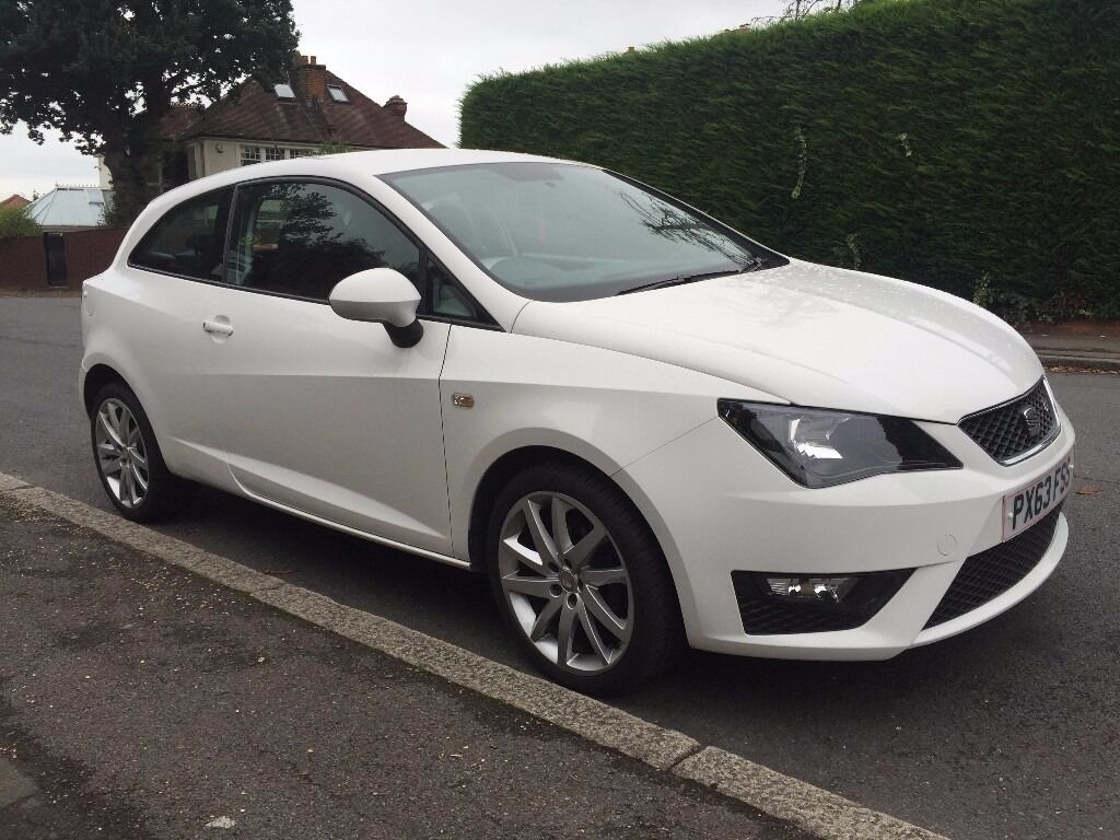 2013 Seat Ibiza Fr Tsi 1 2 White Sport Cat D 44 000 Miles Only Excellent Condition In