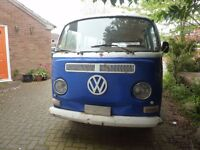 VW VOLKSWAGEN TYPE 2 EARLY BAY BUS CAMPER 1969 RHD SOUTH AFRICAN IMPORT PROJECT NOT UK REGISTERED