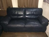 Teal leather sofas for sale, general good condition