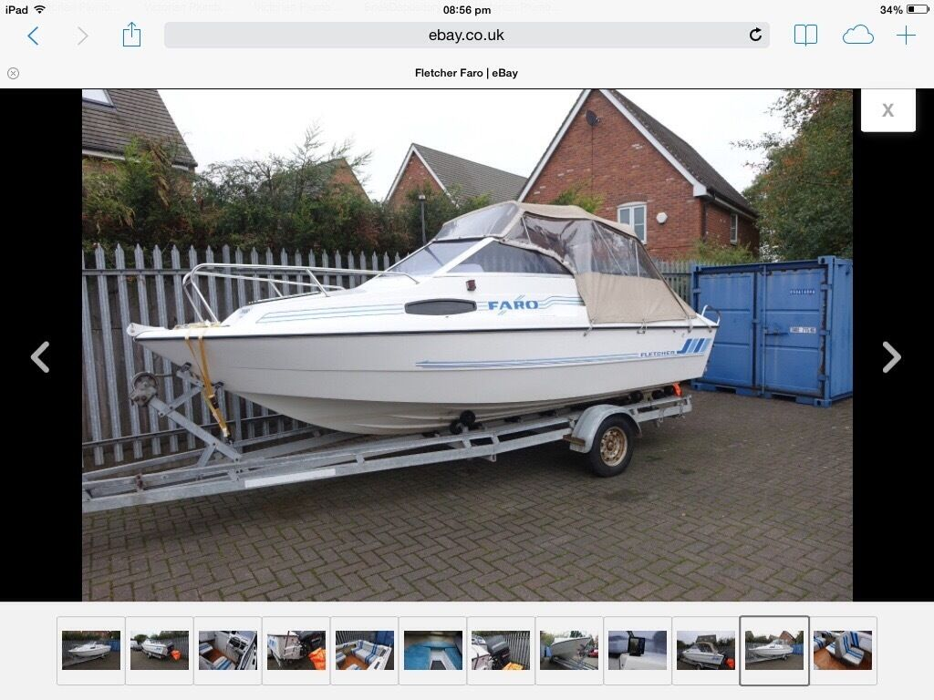 REDUCEDBoat Canopy And Frame For Fletcher Faro Good Condition