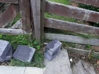 Nice grey garden border blocks.