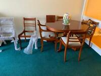 Dining room table and chairs brand new