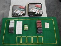 TEXAS HOLD'EM POKER KIT - AS NEW200 4g CASINO STYLE CLAY FEEL CHIPS, FULL INSTRUCTIONS