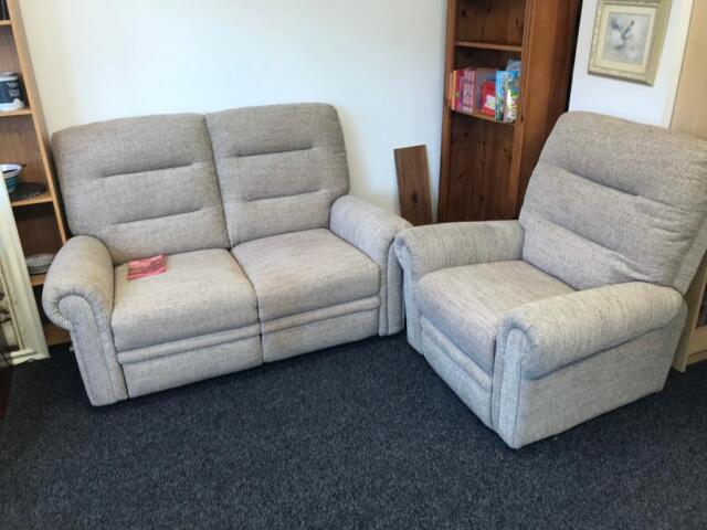 Excellent Eastbourne Electric Reclining 2 Seater Sofa And Electric Riser Recliner Armchair Oatmeal Fabric In Bolton Manchester Gumtree Pabps2019 Chair Design Images Pabps2019Com