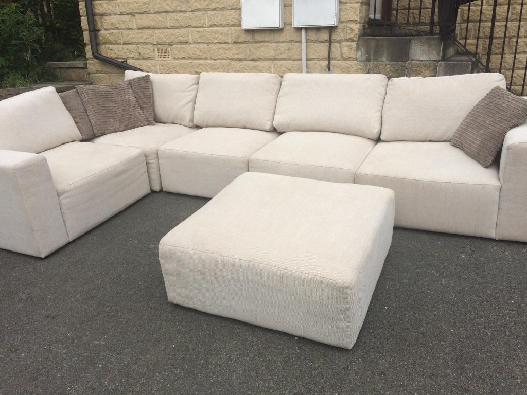 Large corner modular sofa amp footstool in Huddersfield  : 86 from www.gumtree.com size 1024 x 768 jpeg 104kB
