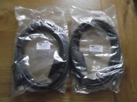 2 new, sealed 3 metre adjustable HDMI cables - v1.4 high-speed 4k resolution rotate and swivel leads