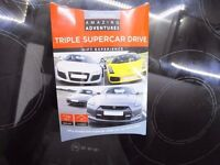 SuperCar Triple Driving Experience - DRIVE 3 SUPERCARS!!! RRP £199.00