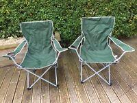 Pair of foldaway camping chairs