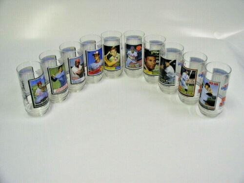 Rare Unused complete set of 10 McDonald's 1993 Topps Baseball Glasses - Yaz!