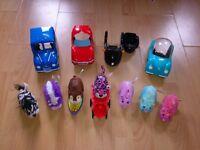 Zhu Zhu Pets 5 Vehicles + 7 electronic Hamsters