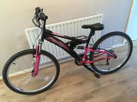 "Ladies 26"", dual suspension bike"
