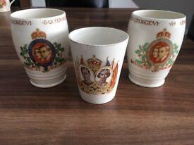 King George V1 and Queen Elizabeth Beakers (x3)