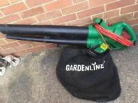 Electric gardenline leaf blower vacuum