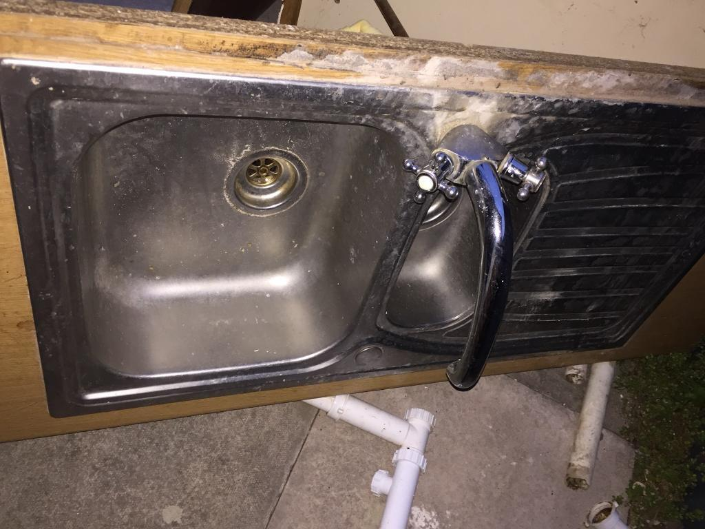 Old Stainless Steel Sink