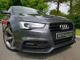 (Dolphin Grey) Feb 2015 (Facelift) Audi A5 COUPE 2.0 Tdi S Line Black Edition Plus 177BHP £20 TAX