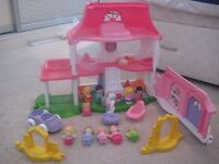 Fisher-Price Little People Happy Sounds Home with extra figures