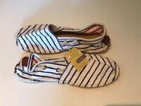 Joules Navy/Cream Espadrilles - New with Tags