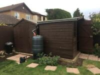 Two 8ft x 6ft sheds