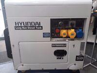 Hyundai long Run Generator DHY8000SELR - 6KW NEW and BOXED