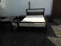 6 piece solid wooden kingsize espresso bedroom suite, with an excellent mattress. can deliver
