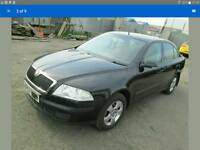 "2008 SKODA OCTAVIA MK2 1.9TDI BXE 5X112 15"" ALLOYS & GOOD TYRES SET OF 5"