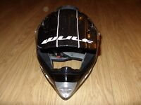 Kids Childrens Quad Wulf Wulfsport MX Motorcross Crossfllite Off Road Helmet Size XL Great Condition