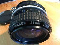 Nikon Nikkor 28 mm wide angle lens