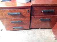 Small and large filing cabinets