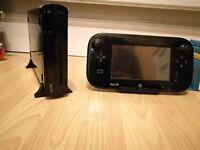 Wii U 32GB Console W/ Splatoon, DKC Tropical Freeze, Mario Maker & Smash Bros 4 W/ GCN Adapter