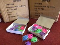 Job Lot Bundle Of Spinning Top Novelty Erasers By Drewdle