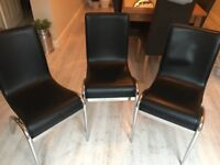 3 Kitchen/dining chairs