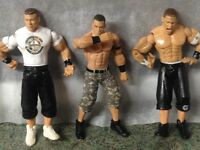 WWE WRestling Figures Three figures of John Cena
