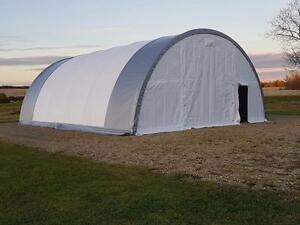 NEW 30X 85 / 65 / 40 X 15 STEEL FRAMED FABRIC STORAGE BUILDING FARM HAY COLD EQUIPMENT DOME SHELTER