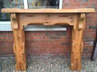 Solid oak fireplace for sale