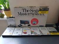 Sega Master System Original in Box plus 8 games