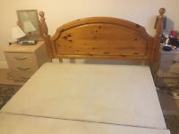 Wooden headboard & Divan base Double bed