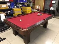 Pool / Snooker Table Games 8 Ball Red Wood Quick Sale