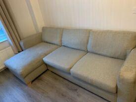 DFS 4 seater corner sofa with storage