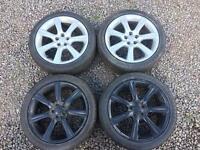 Subaru Impreza hawk eye wheels.