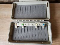 2 X Richard Wheatley Water-Tite fly boxes and a selection of new flies