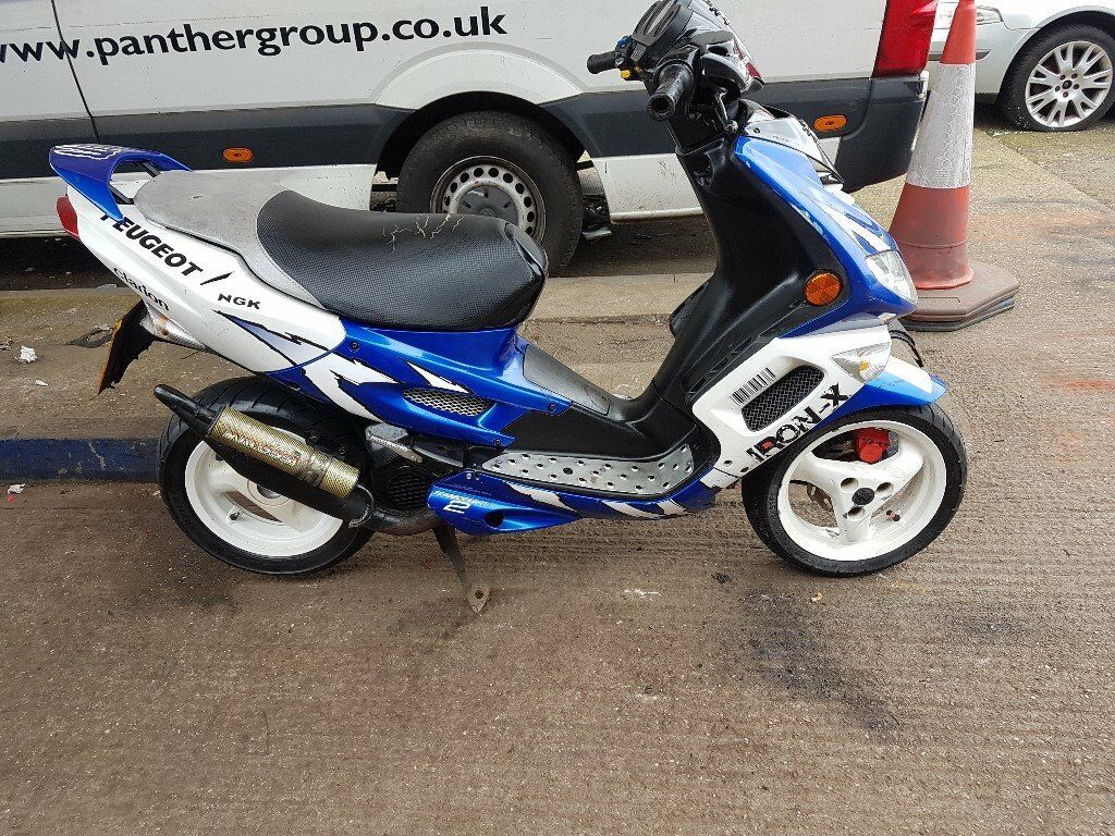 peugeot speedfight 2 50cc scooter moped 5 months mot mechanically sound sporty litle bike. Black Bedroom Furniture Sets. Home Design Ideas