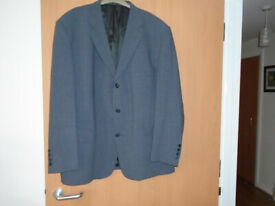 a GENTS GREY ITALIAN JACKET by CIRO CITTERIO, 50R, 40% WOOL, WORN ONLY ONCE ON A CRUISE SHIP