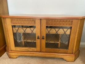 Oak TV Corner Cabinet
