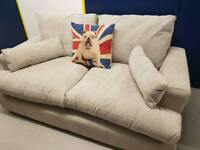 New 2 seater grey sofa with tags light grey