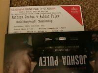 Anthony Joshua v Carlos Takam (Kubrat Pulev) at Principality Stadium. 4 Tickets